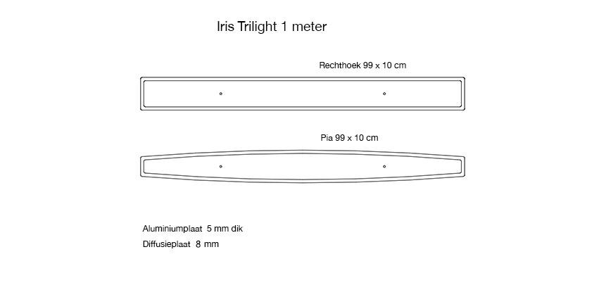 Iris standaard 1 meter